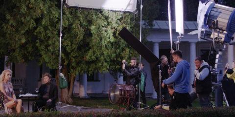 Певица Lariss и Дима Бикбаев, съемки клипа