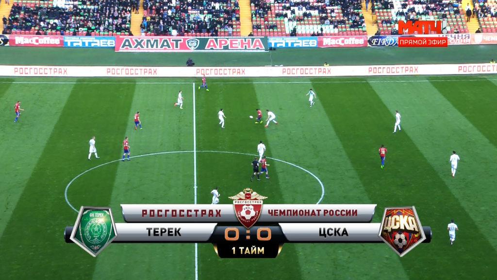 Размещение рекламы на Ахмат - Арена / стадион трансляция