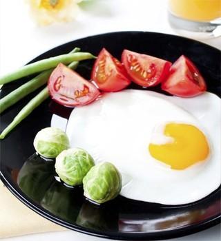 идеальный завтрак яичница