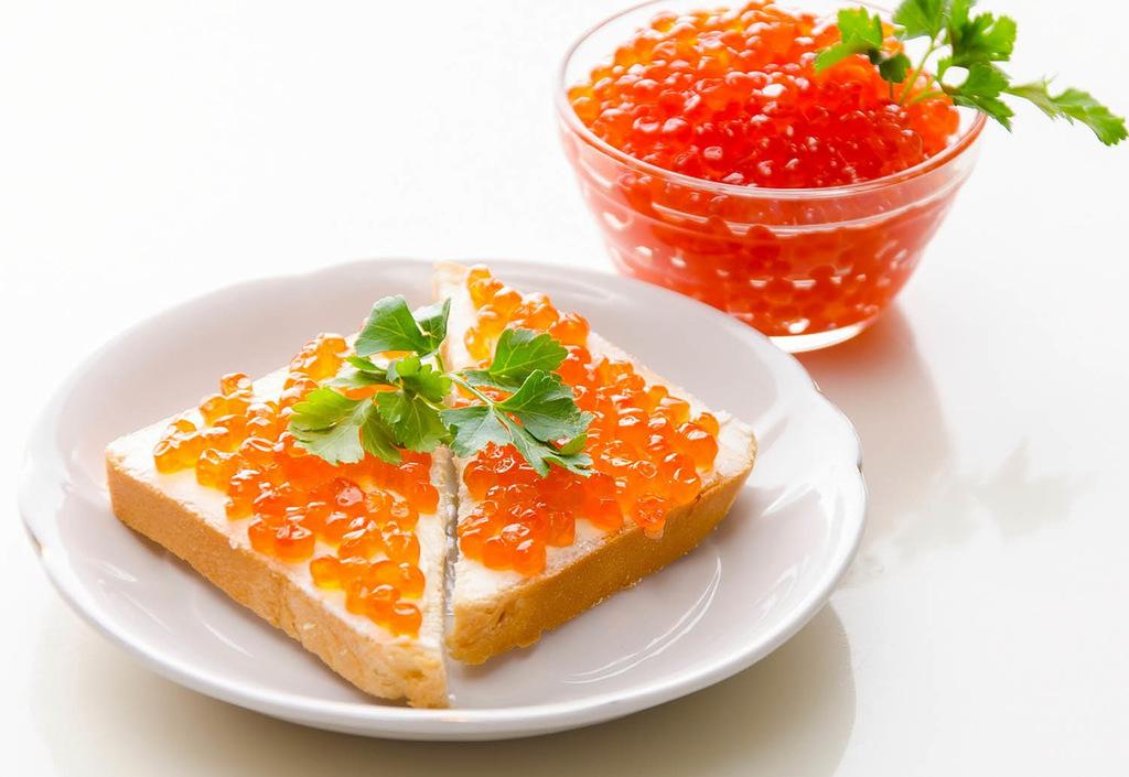идеальный завтрак икра