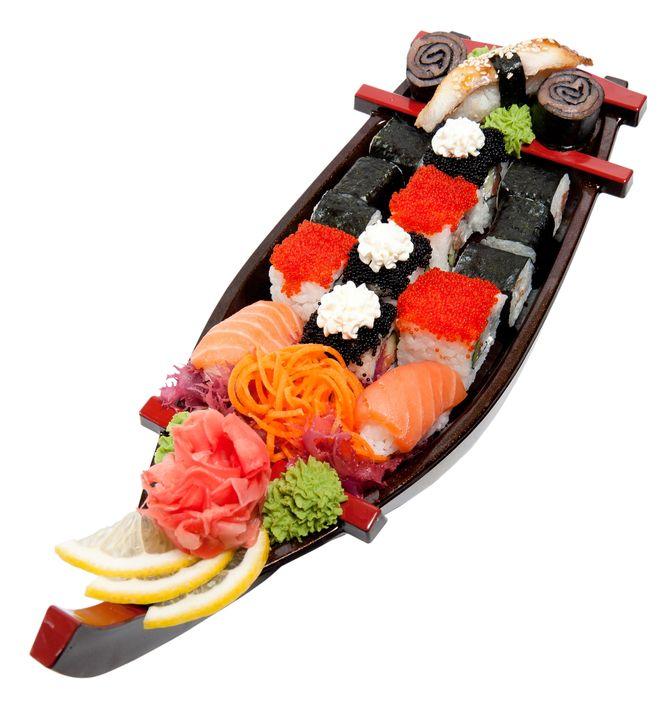 Мода на еду суши