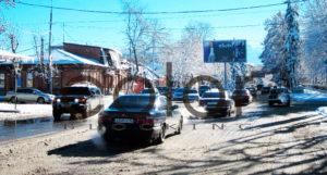 наружная реклама в Владикавказе у светофора
