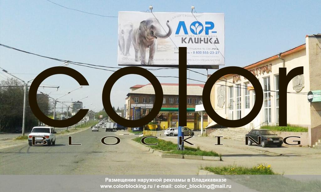 Рекламные щиты в Грозном и Владикавказе
