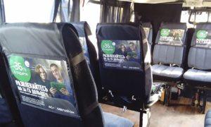 Реклама на транспорте в Чечне борта ТС