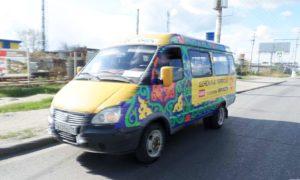 Реклама на транспорте в Владикавказе маршрутное такси