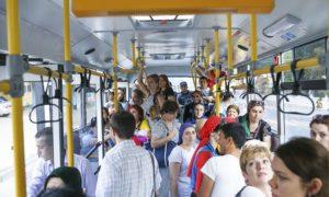Реклама на транспорте в Дагестане маршрутки
