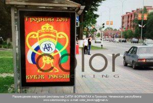 Реклама на сити-форматах в Грозном уличная