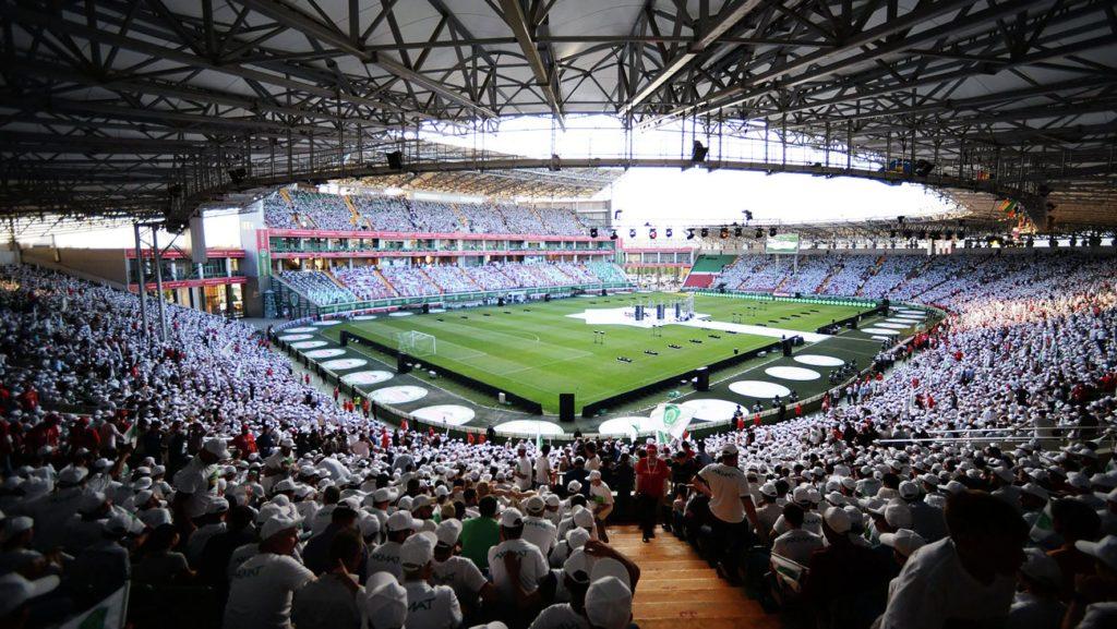 Размещение рекламы на Ахмат - Арена / стадион зрители