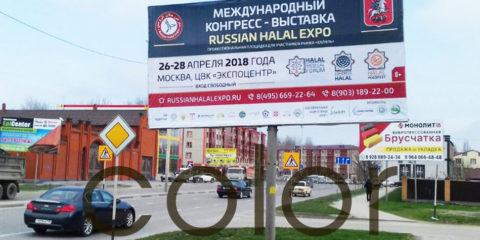 Реклама на билбордах в Грозном Russian Halal Expo рекламная кампания