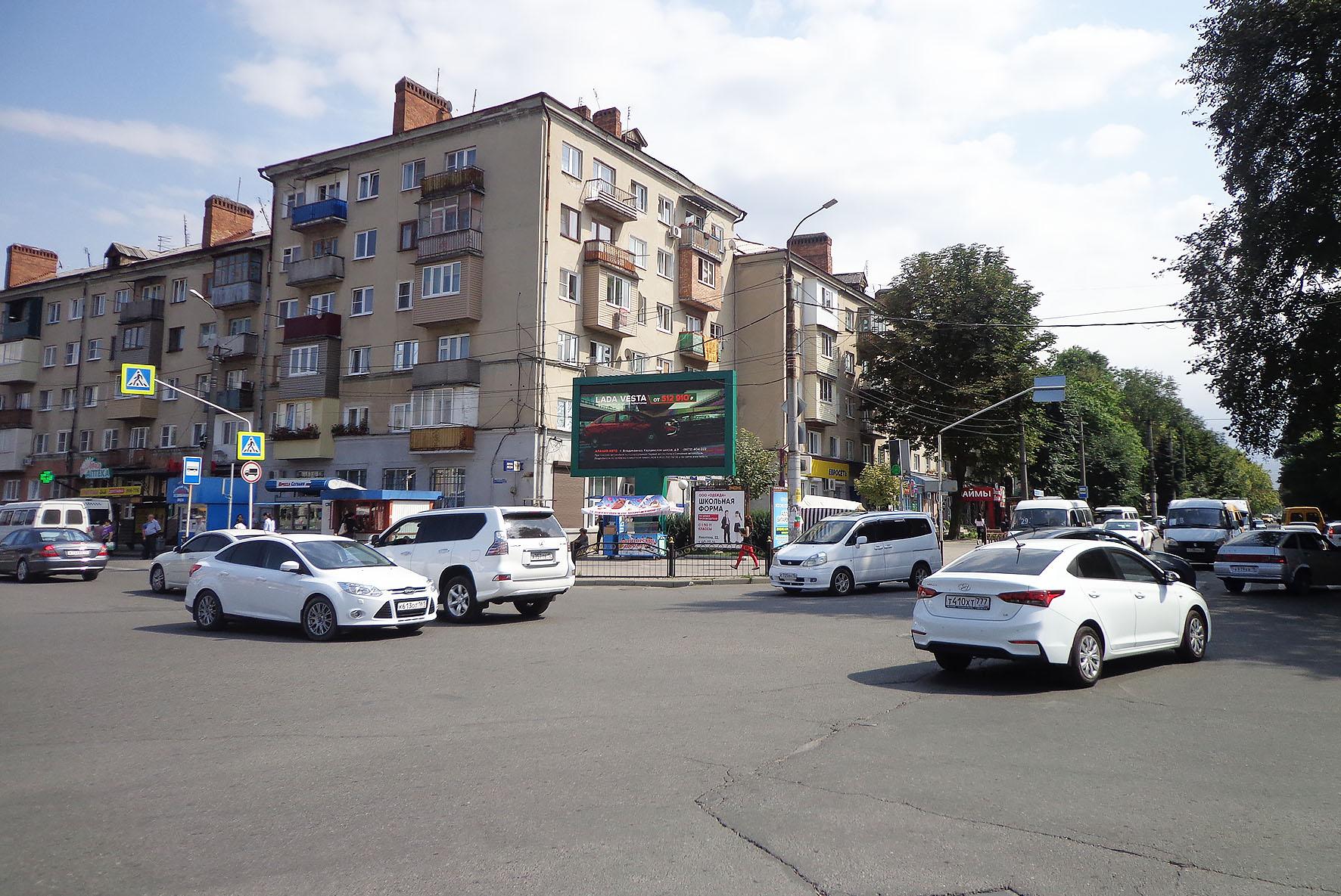 Размещение рекламы на светодиодных экранах в Владикавказе мониторы