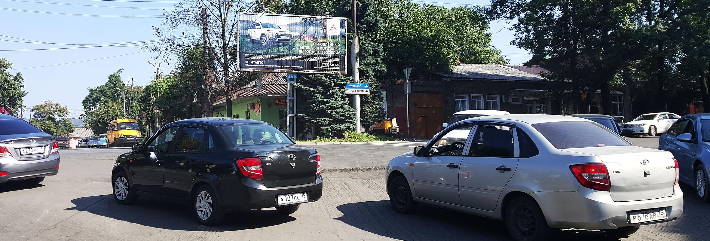Реклама на билбордах в регионах Кавказа 3х6