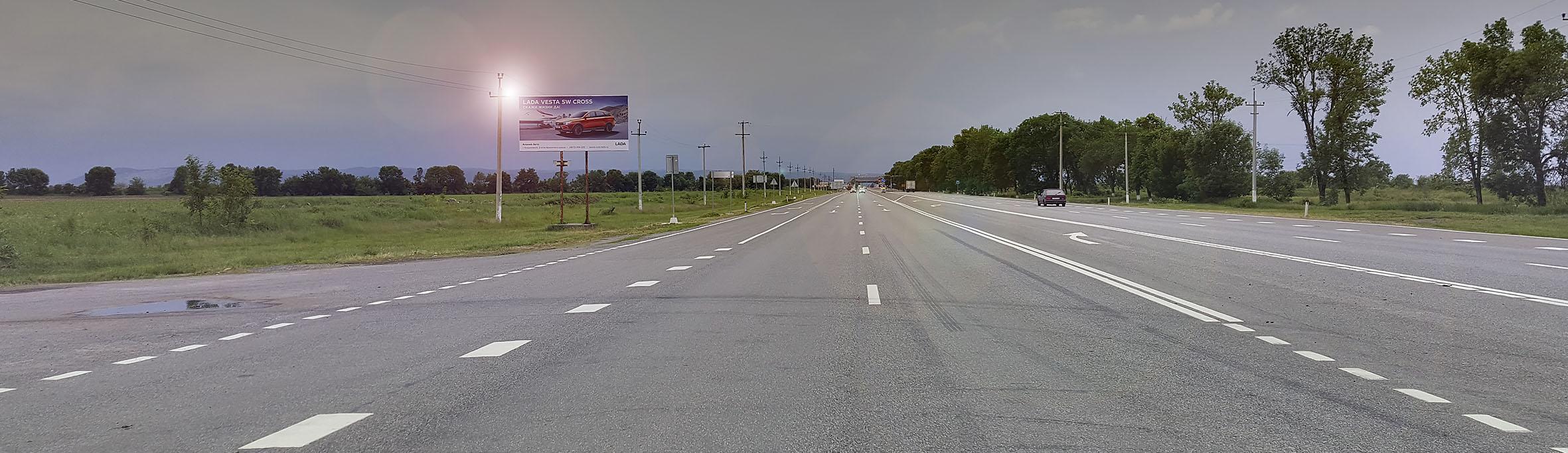 Реклама на билбордах в населенных пунктах РСО-Алания щиты